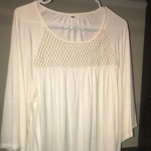 Winter white and gold tunic